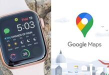 Google Maps on Apple Watch