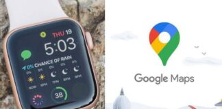 Google Maps on Apple Watch