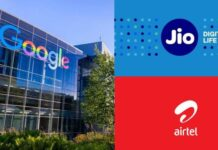 google jio and airtel internet