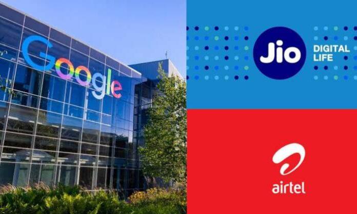 google jio and airtel internet